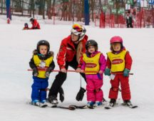 Teaching at the ski school