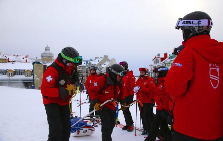 Training with the ski patrol
