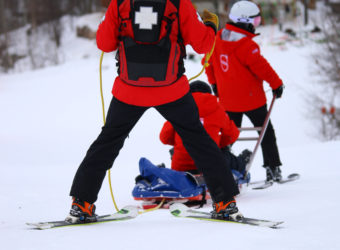 Training with the Canadian Ski Patrol in Tremblant