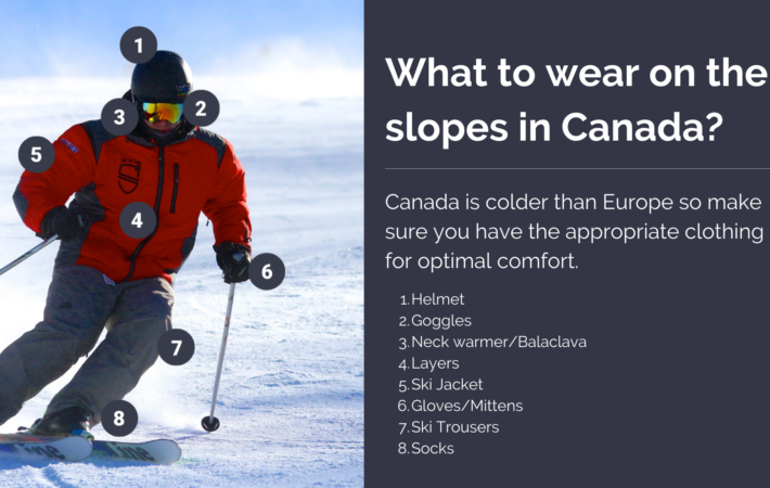 What to wear on the slopes in Canada?
